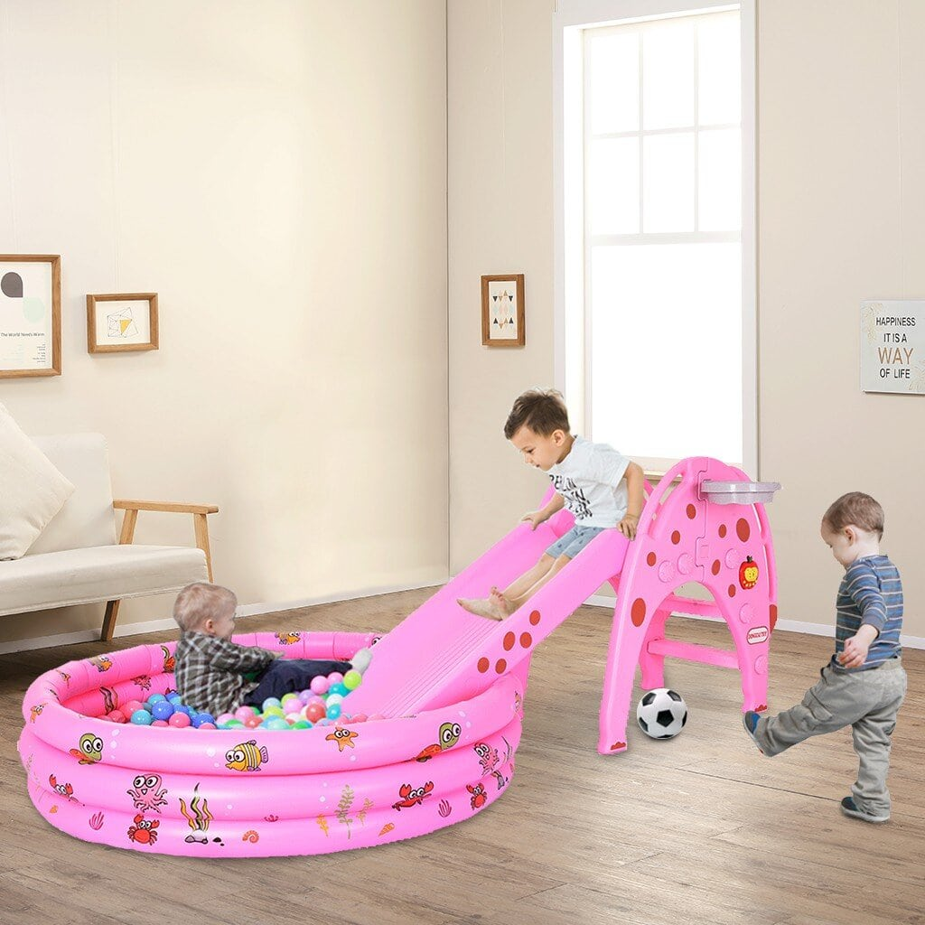 Encourage Activity With an Indoor Slide and Ball Pit