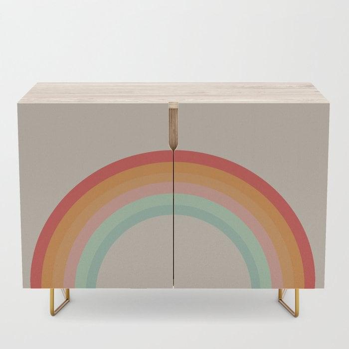 A Rainbow Storage Cupboard