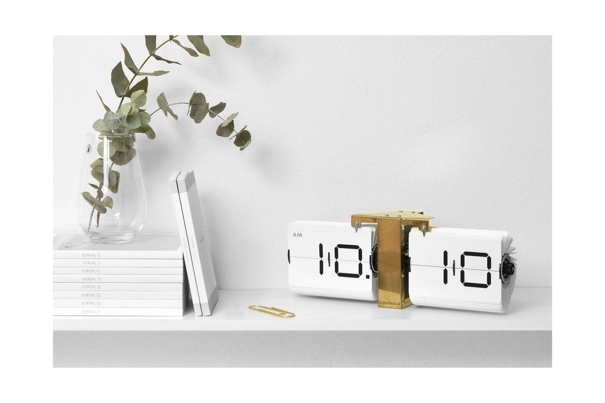 Be Told the Time with this Flipping Out Wall Clock