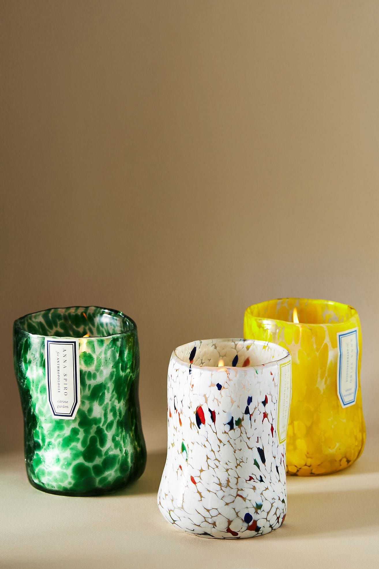 Add a Cosy Glow with Confetti Glass Candles