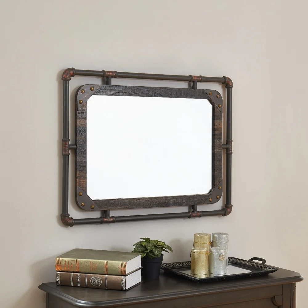 Use a Pipe-Framed Mirror for an Industrial Look