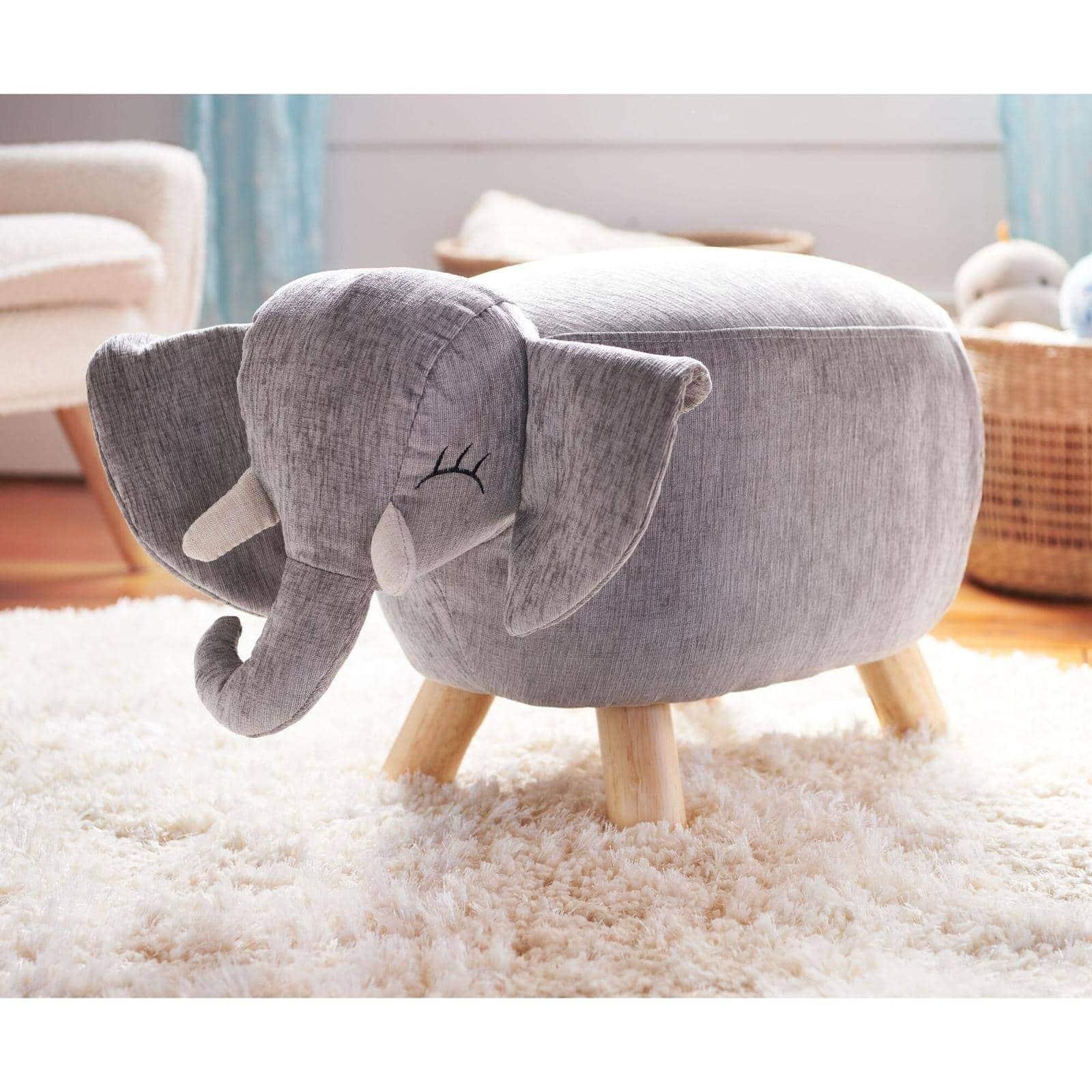An Elephant Stool for A Safari-Themed Nursery