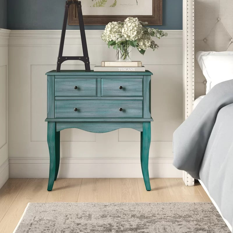 Add a Subtle Splash of Color With a Blue Nightstand