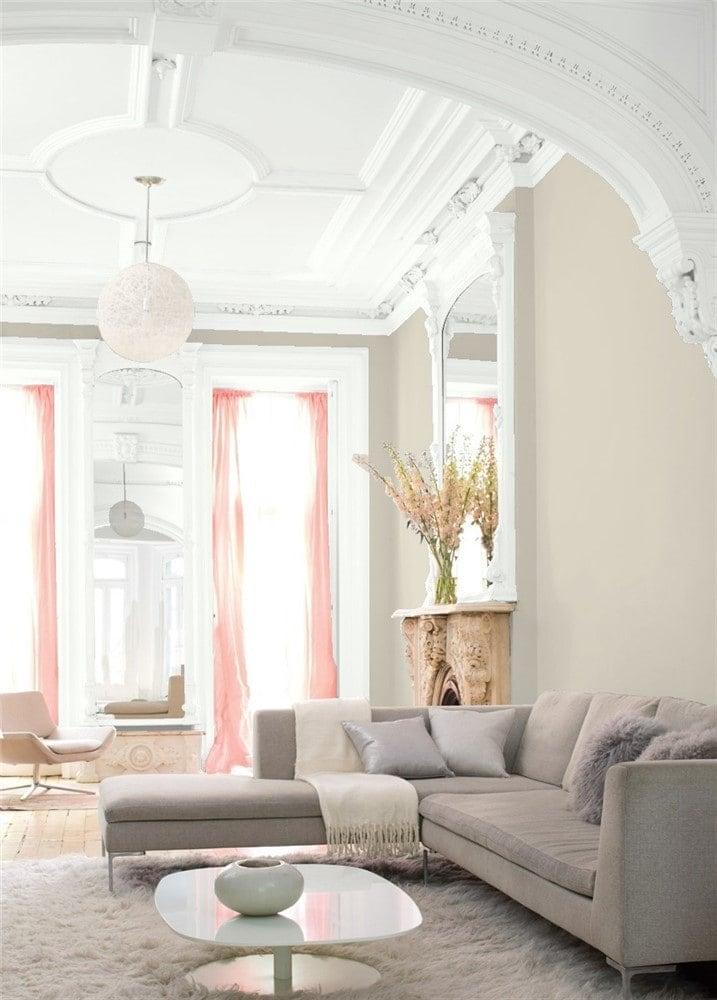3 Living Room Edgecomb Gray by Benjamin Moore
