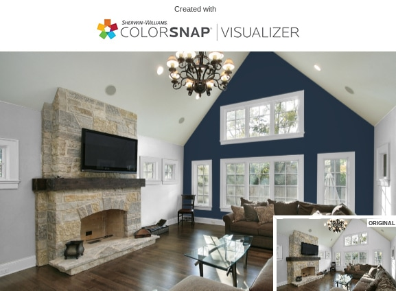 3 Living Room Repose Gray and In the Navy by Sherwin Williams