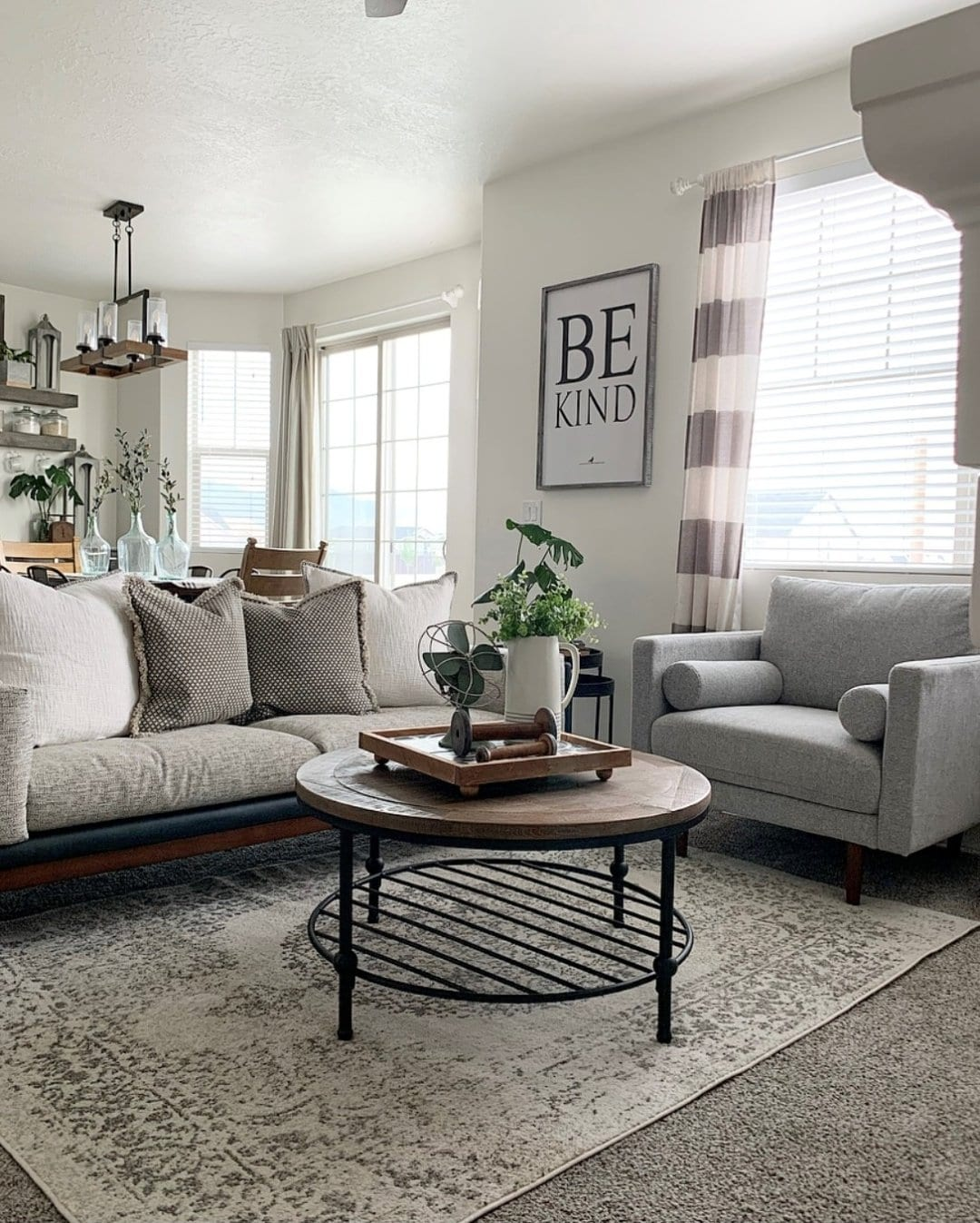 Hang Wide Striped Neutrals for a Casual Vibe