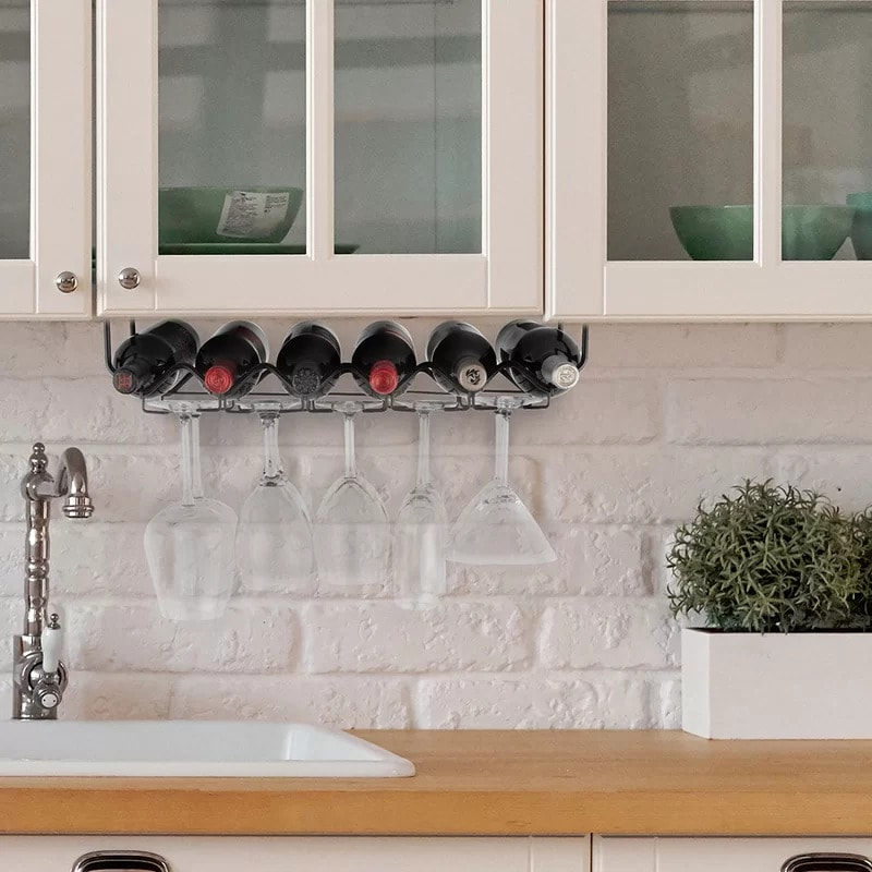 Be Ready for a Good Time With an Under-Cabinet Wine Rack