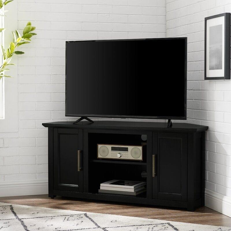 Black Corner Tv Stand With Storage