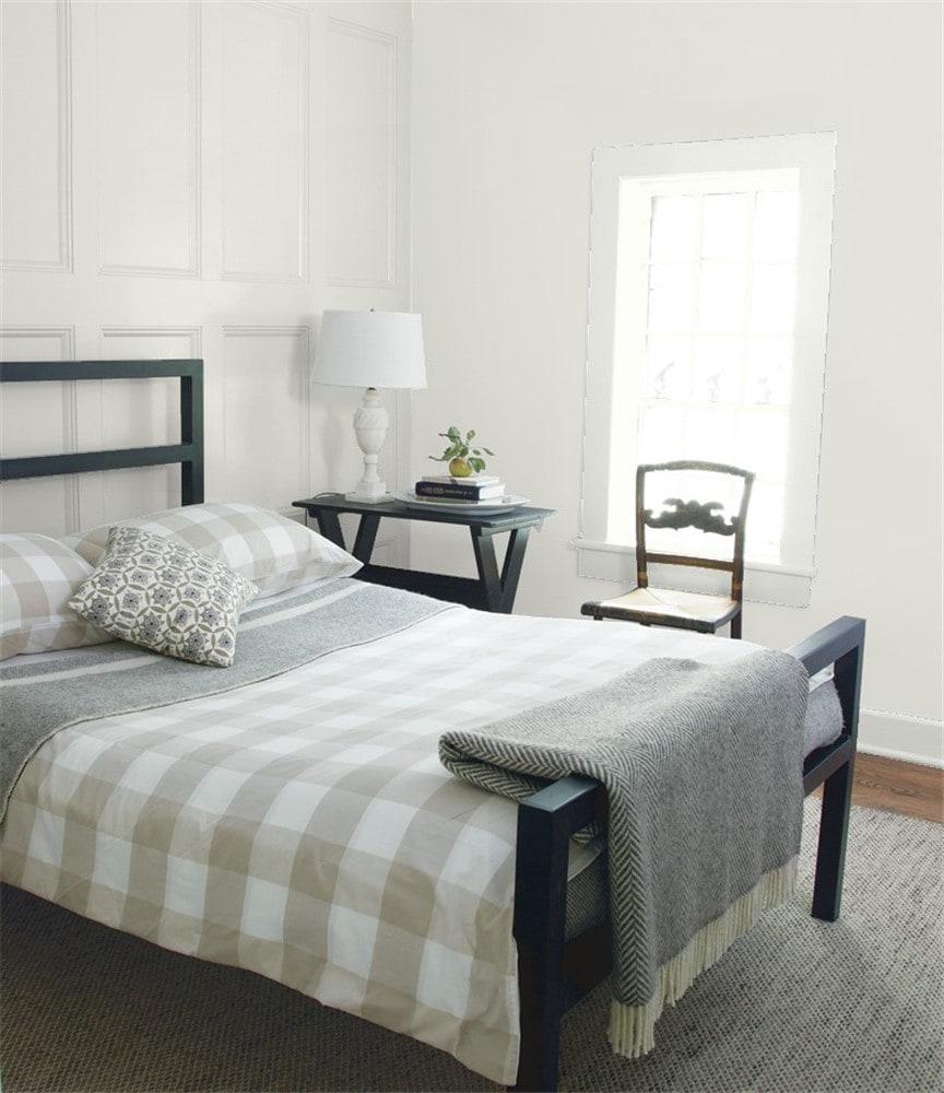 6 Silver Satin in the Bedroom