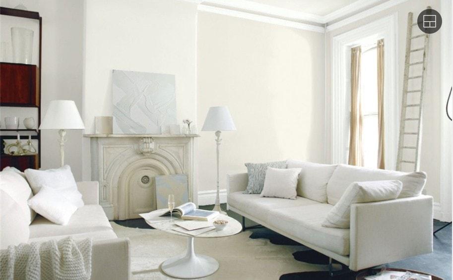6 Swiss Coffee Living Room by Benjamin Moore 1