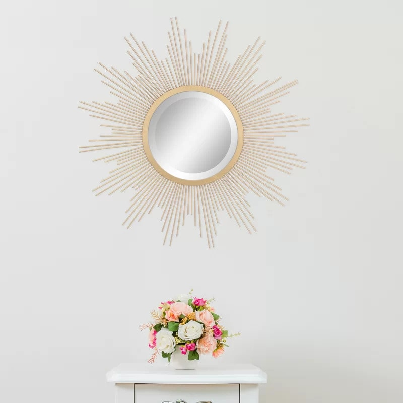Use a Sunburst Mirror To Add Cheer to Your Living Room