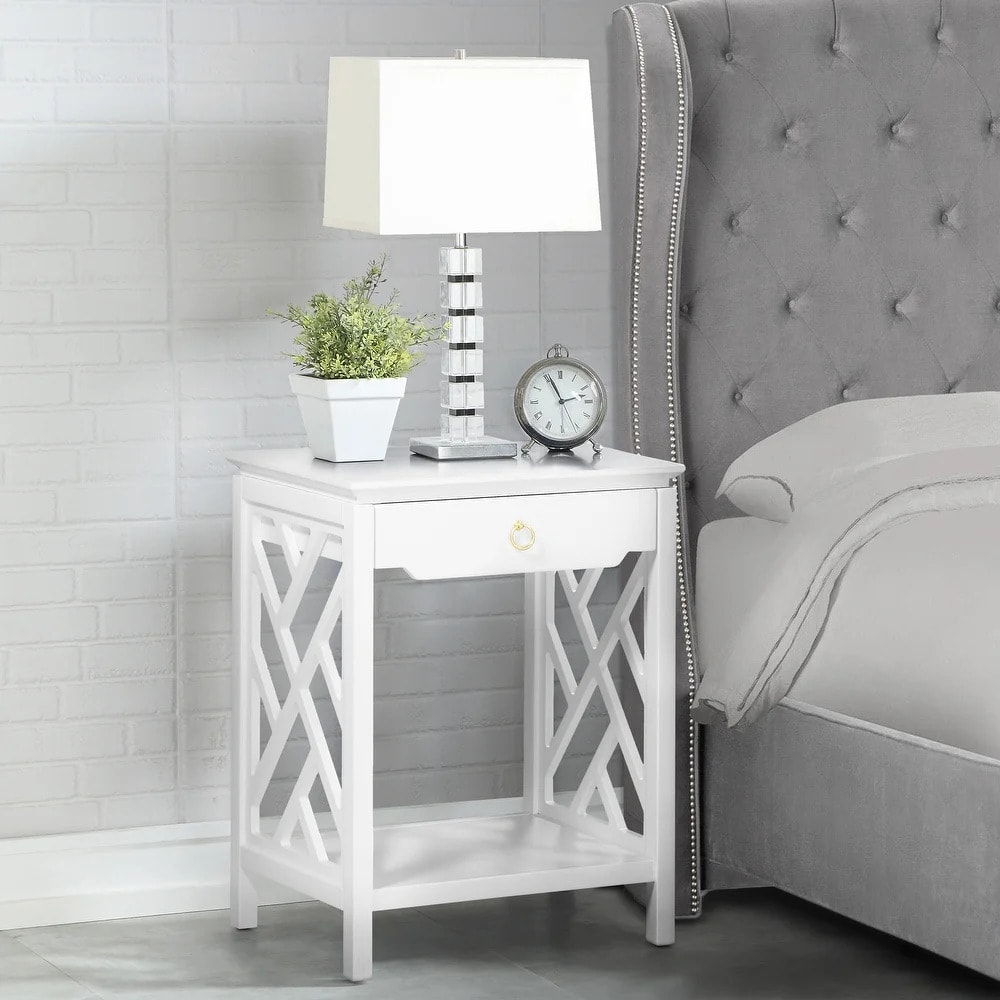 Use Lattice Sides for a Subtly Unique Nightstand