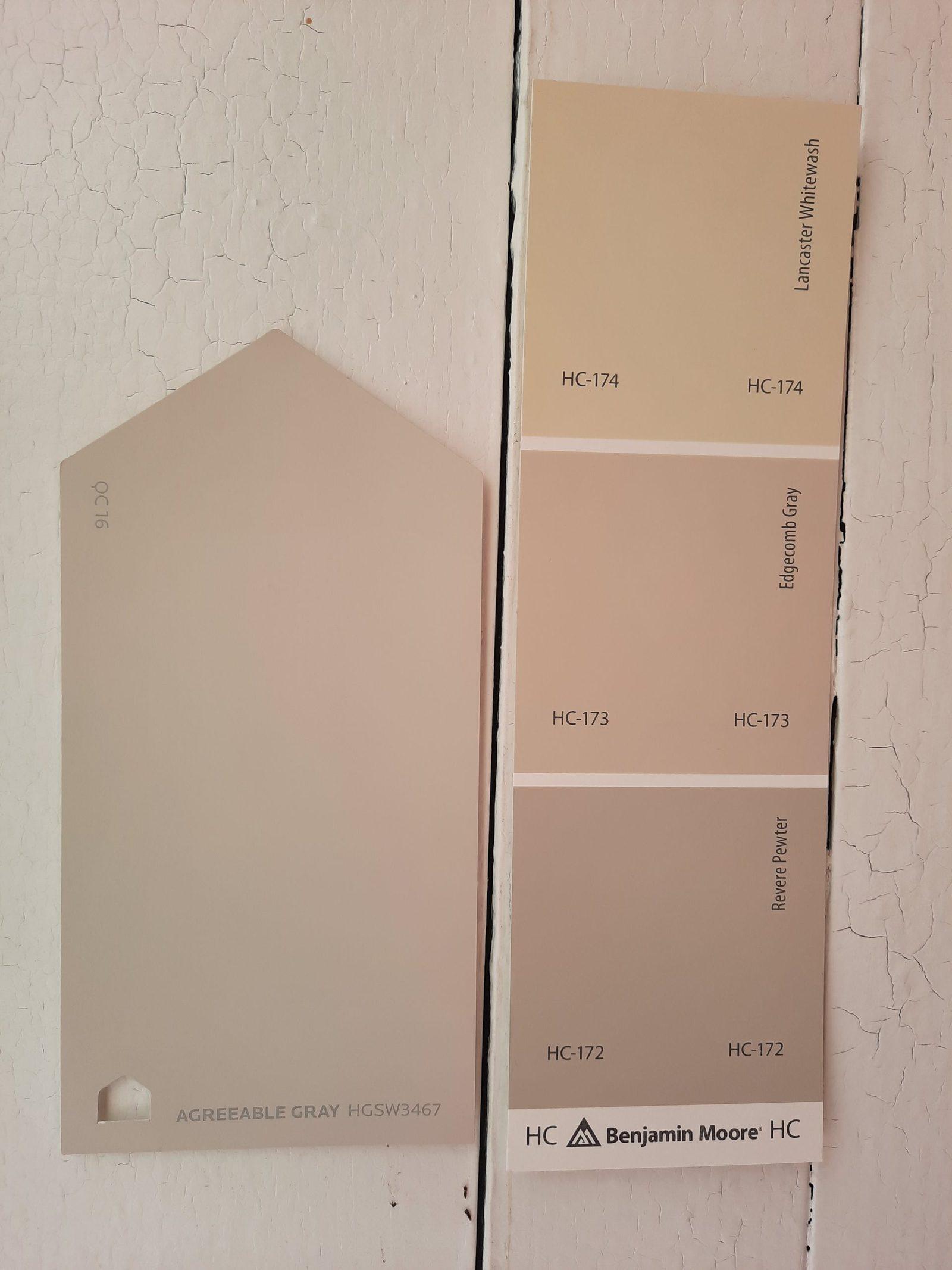 8 Agreeable Gray vs Edgecomb Gray scaled