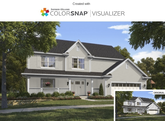 8 Repose Gray Exterior by Sherwin Williams