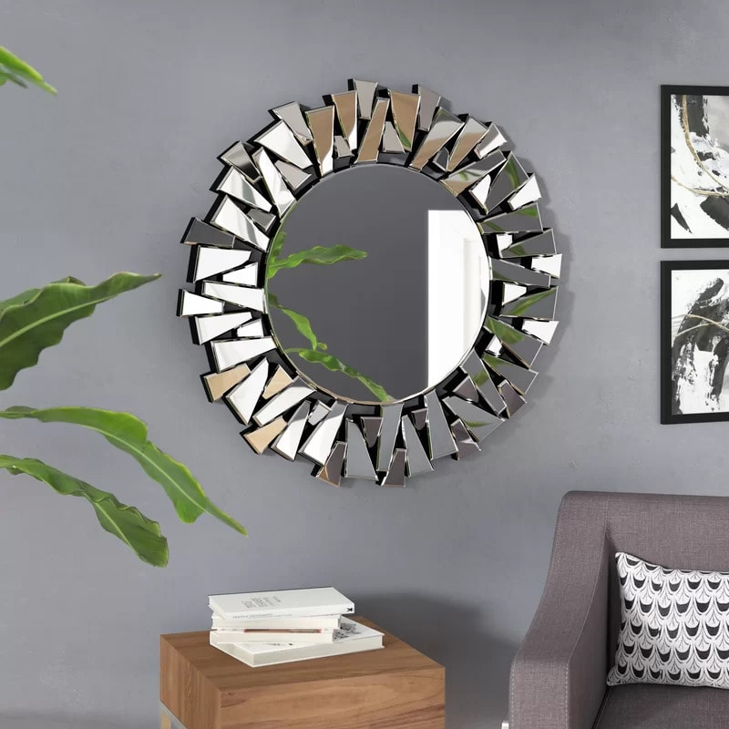 Use a Geometric Frame Mirror for a Modern Look