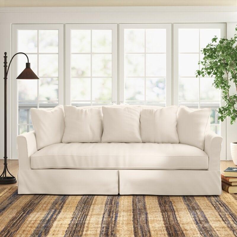 Slip Covered Casual Sofa