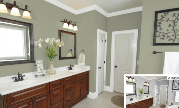9 Bathroom in Clary Sage by Sherwin Williams