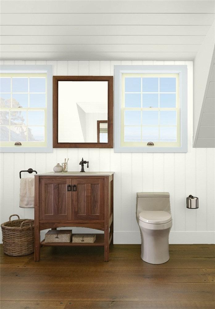 9 Bathroom in White Dove by Benjamin Moore