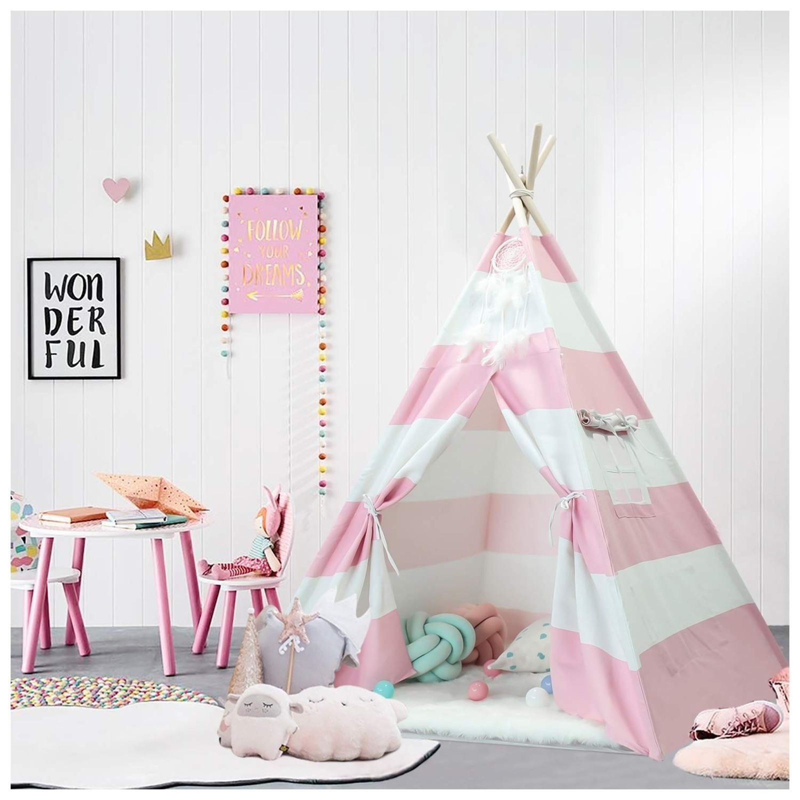 Create a Play Area With an Indoor Teepee Tent
