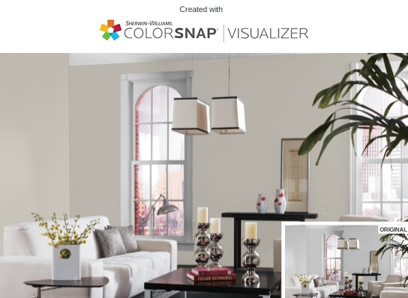 9 Living Room in Agreeable Gray by Sherwin Williams