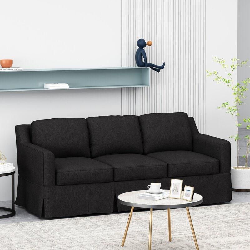 Dark Square Arm Sofa