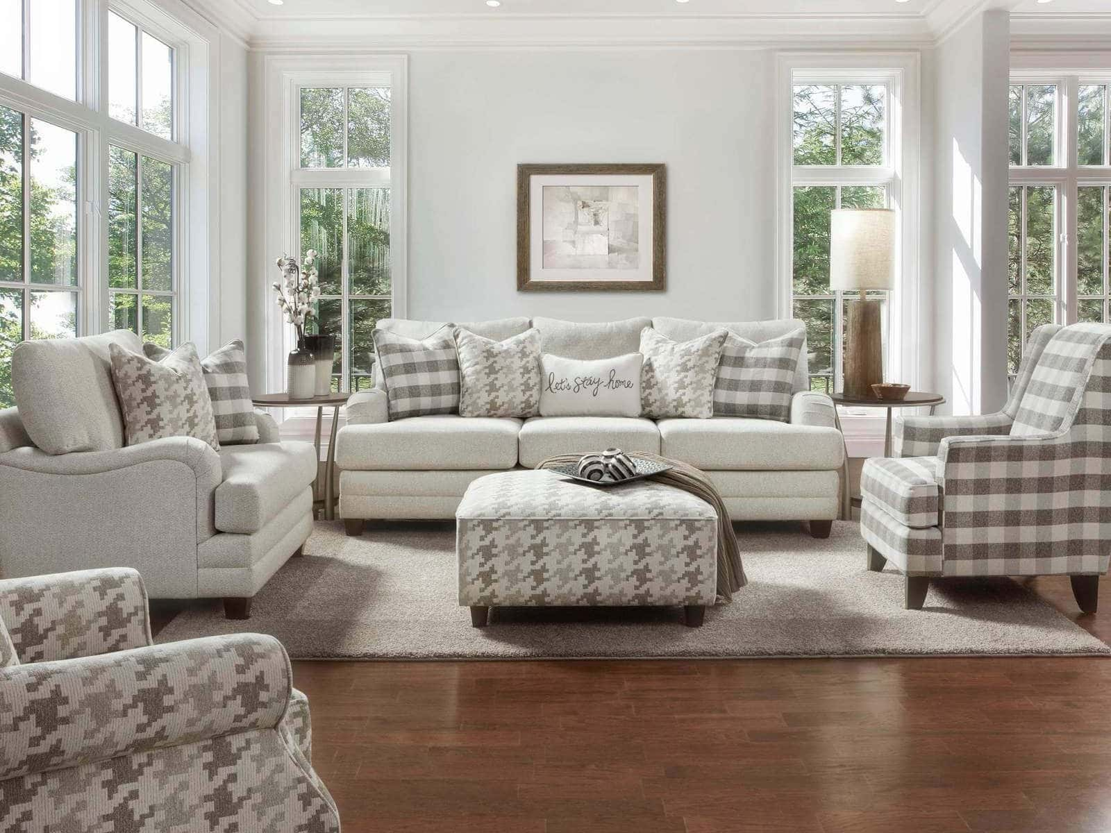 Comfy Casual Wool Sofa